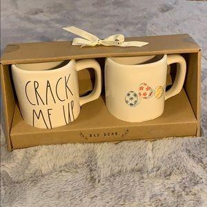 Rae Dunn crack me up and egg mug